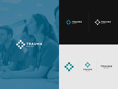 Trauma, Med Ed trauma branding brand logo logotype elearning school