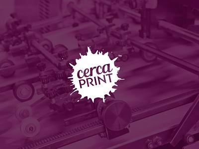 Cerca Print branding brand logotype logo printer imprenta print cerca