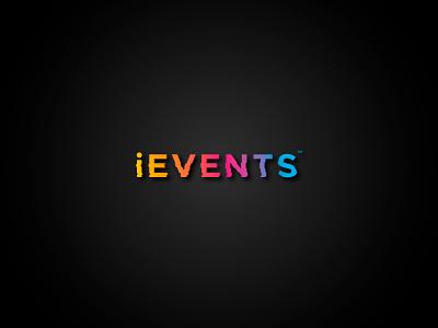 iEvents branding brand logotype logo events