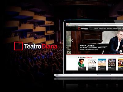 Teatro Diana Website Redesign Concept ui ui design webdesign rediseño redesign sitio web website teatro diana teatro diana
