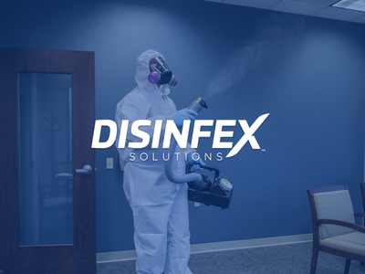 Disinfex Solutions cleaning service cleaning brand logotype logo disinfection disinfectant disinfect