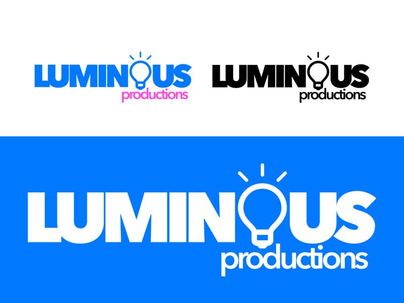 Luminous Productions #1 luminous luminousprod logo design branding