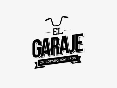 El Garaje diseño bicicleta logo bici cicloparqueaderos garaje el garaje