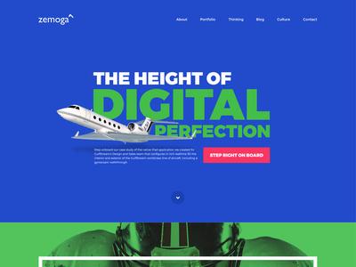 Propuesta de rediseño Zemoga design ux web home redesign