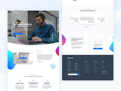 Starshot web proposal responsive colorful website ui homepage landing web