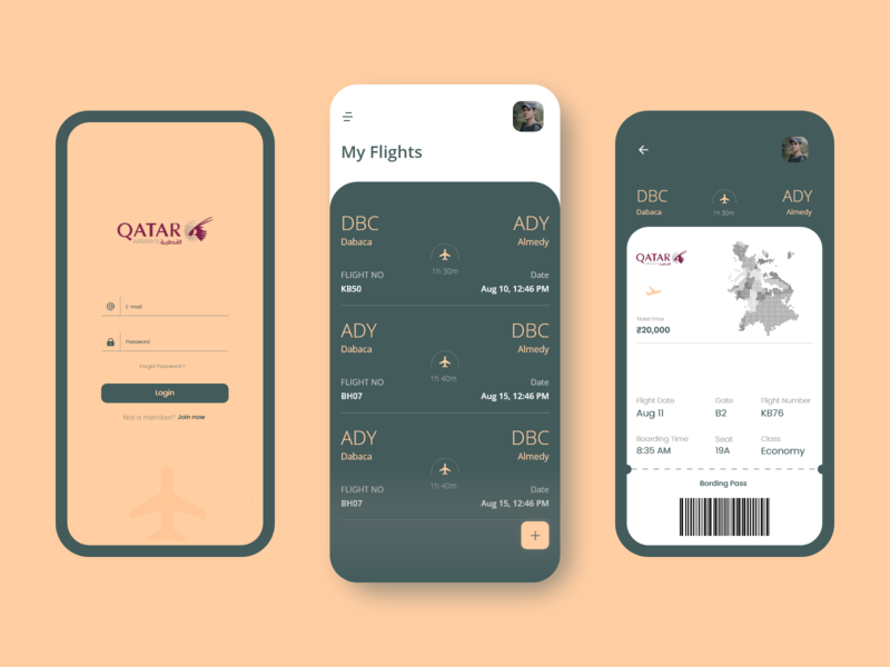 Airline App ui animation illustration icon web logo typography ux ui design app