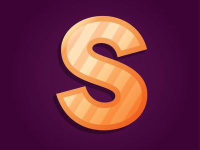 S is for.... typography modern gradient illustration type treatment modern type web type illustrated type