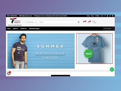 Our recent work for the client: Tirupur Bazzar web websites design website design website web design