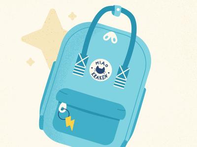 Backpack - Cat Series pen challenge affinitydesigner cute animal cat flat vector art vector illustration design