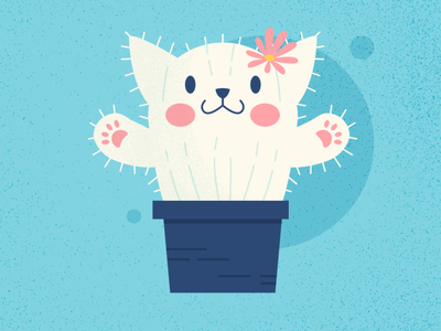 CATus - Cat Series cactus pen summer challenge affinitydesigner cat cute animal vector art vector design illustration