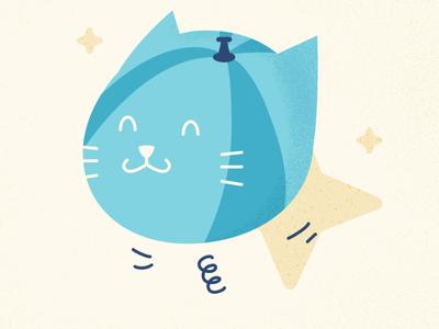 Balloon  - Cat Series challenge summer cat cute animal affinitydesigner vector art vector illustration design