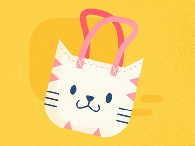 Shopper - Cat Series challenge flat summer cat cute animal design illustration affinitydesigner vector art vector