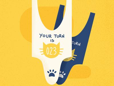 Wait for your turn - Cat Series challenge flat summer cat cute animal affinitydesigner vector art vector illustration design