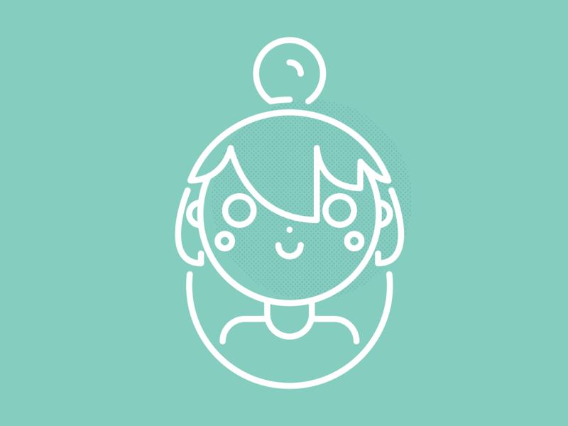 Hi there! I'm Haru! flat vector design illustration