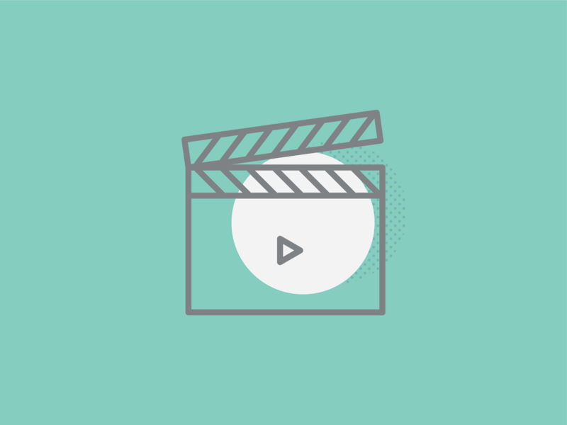 Video - Icon motiongraphic video vector art icon dot pattern vector illustration design