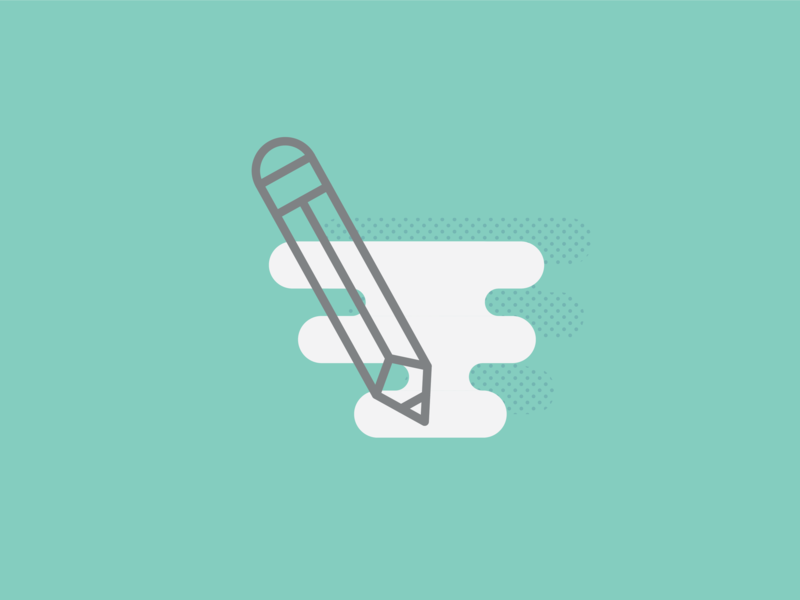 Illustration - Icon pencil drawing pencil vector art icon dot pattern vector illustration design