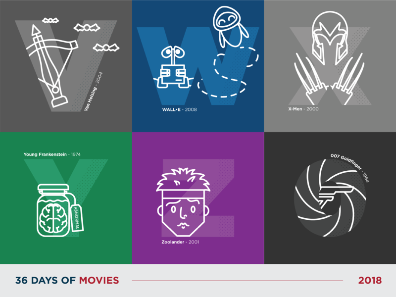 36 Days of Movies - V to 0 movie flat typography 36daysoftype vector art icon dot pattern vector design illustration