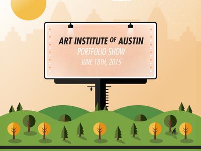 I'm Graduating! graduation art institute austin poster illustration spring