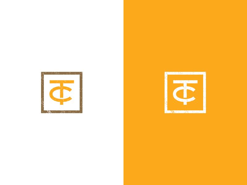 TC Monogram texture grudge monogram tc mark logo