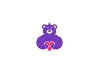 Bear With Heart Mark