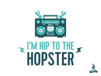 I'm Hip to The Hopster Shirt Design