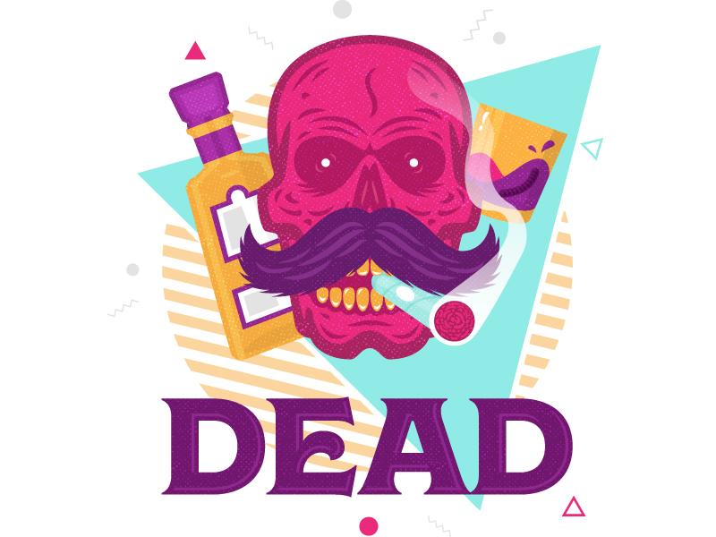 Dead Sticker Pack tequilla skull dead swizl stickerpack drinks alcohol swizllife