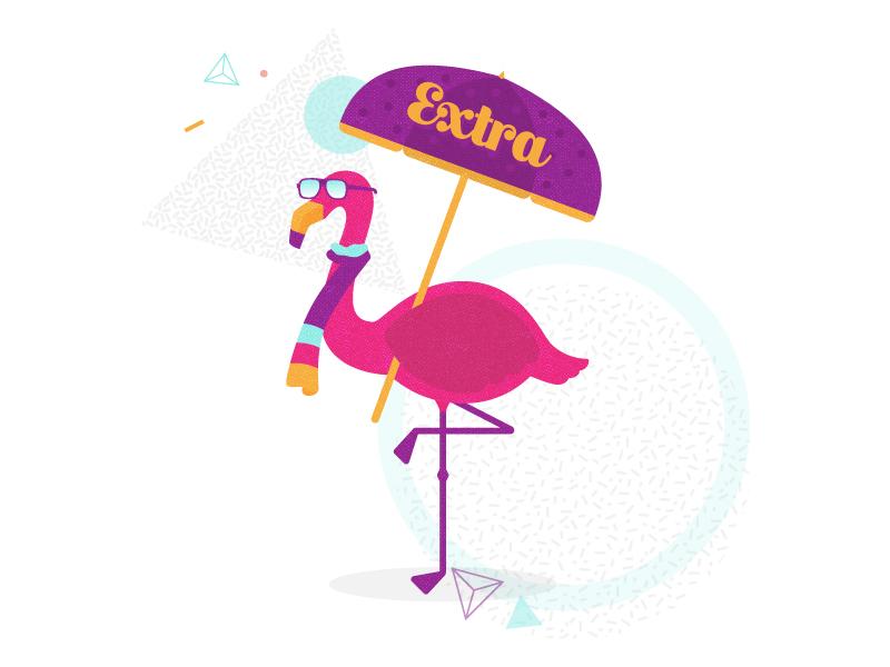 Extra Flamingo alcohol drinks flamingo illustration stick pack swizllife swizl