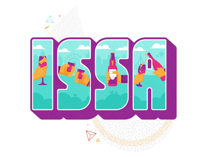 ISSA Monday! illustration lettering issa swizl stickerpack beer alcohol swizllife