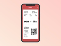 Daily UI #024 (Boarding Pass)
