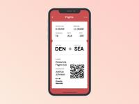 Daily UI #024 (Boarding Pass)