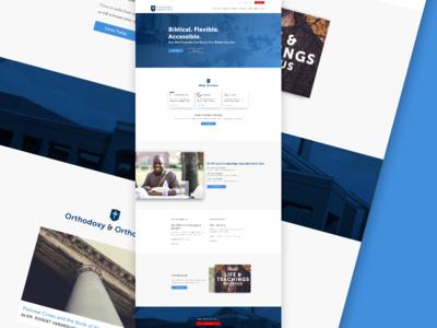 Seminary Homepage Redesign