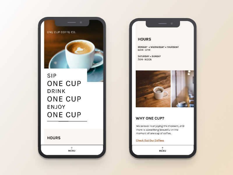 One Cup | Morning UI by Riley Jones on Dribbble