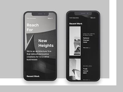 Form Associates | Morning UI inter typeface layout gray mobile ui web web design mobile architechture black white ui design simple design ui clean typography minimal