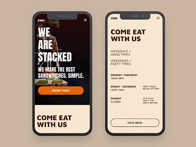 Stacked | Morning UI ui clean minimal ui design design web app fast food food and drink food app ui ui  ux design web design agency maven pro anton typography simple web design food website food