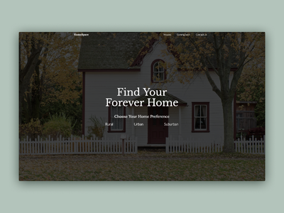 HomeSpace | Morning UI typography clean landingpage interaction website concept site design design website webdesign house design uidesign simple animation webflow ui green minimal house