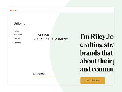 Portfolio Redesign #1 web design simple layout modern inspiration landingpagedesign green yellow minimal typography redesign portfolio ui homepage