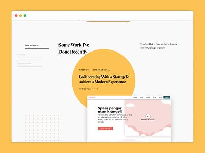 Portfolio Redesign Snapshot #2 clean uidesign design ui typography simple clean interface contemporary modern portfolio simple ui design web design layout minimal yellow