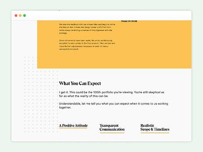 Portfolio Redesign Snapshot #4 white space layout yellow uidesign web design white ui design design simple clean ui typography minimal portfolio