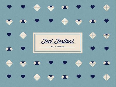 Feel Festival 2015 illustration graphic design poster