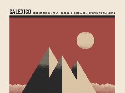 Calexico Poster illustration design gigposter