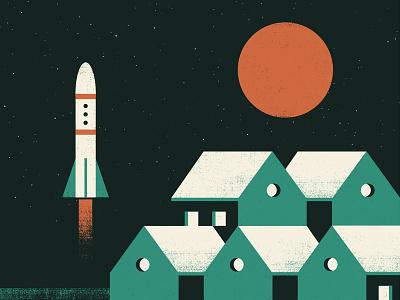 Steaming Satellites Tour Poster 2015 tourposter poster satellites steaming illustration design gigposter