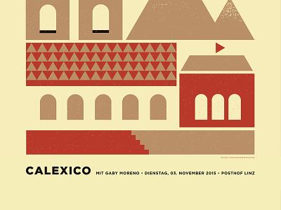 Calexico Linz church houses illustration design poster gigposter calexico