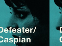 Defeater Caspian Tour Poster