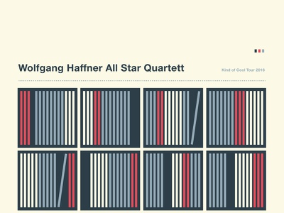 Wolfgang Haffner All Star Quartett Tour Poster style swiss abstract vinyl recordshelf records gigposter jazzposter jazz illustration poster tourposter