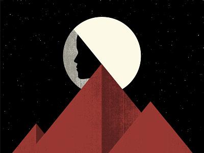Steaming Satellites Tourposter 2016 stars shadows mountain sun moon face mountains space astronaut tourposter gigposter poster