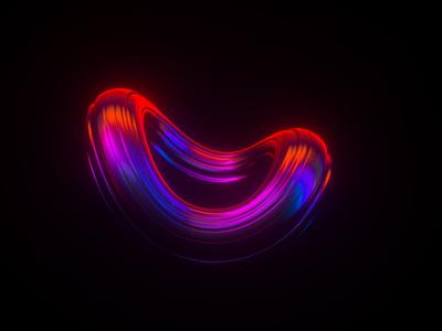 3D Abstract Logo gradient c4d 3d art 3d logo abstract art cinema 4d redshift