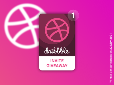 Dribbble invitation Giveaway giveaway invitation dribbble invite dribbble