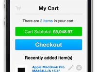 Responsive Magento Base Theme - Cart