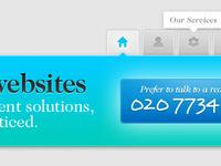 Website navigation & header