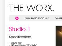 Website for a film/photo studio